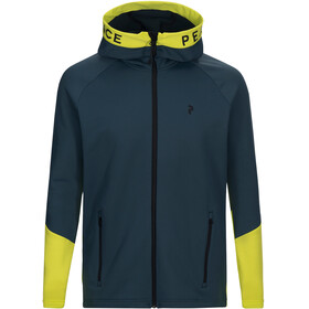 Peak Performance Rider Zip Hood Men Blaze Lime